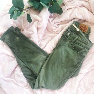 Levi's Jeans - Levi's 710 super skinny olive green skinny jeans